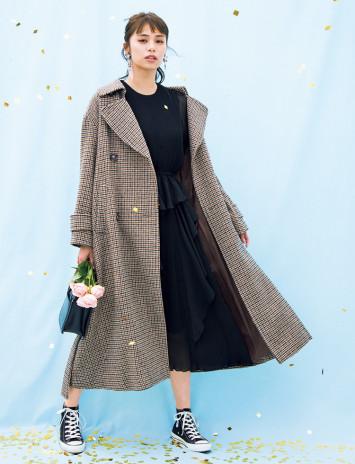 [ZARA、SNIDELほか]年末年始のお出かけに♡カワイイ派御用達ブランドで仕上げるコート&ドレス