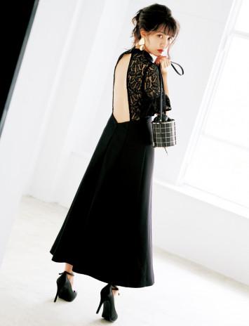 加藤玲奈が大胆に背中見せ!ロリータからレディまで黒ドレスで4变化