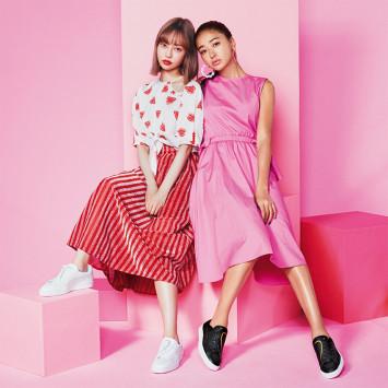 里砂とみちょぱが初共演♡キャッチーなハートデザインが可愛過ぎるPUMAのBASKET CRUSHに夢中!