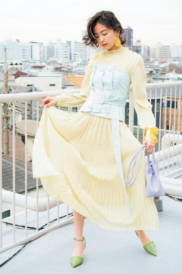 """1枚で主役級♡春一番に着たくなる""""みっこ""""流ドレスコーデ3選"""