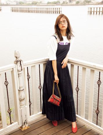 【秋冬ドレスランキングTOP3】 サスペンダードレスがバズリ中!芸能人も買ってます♡