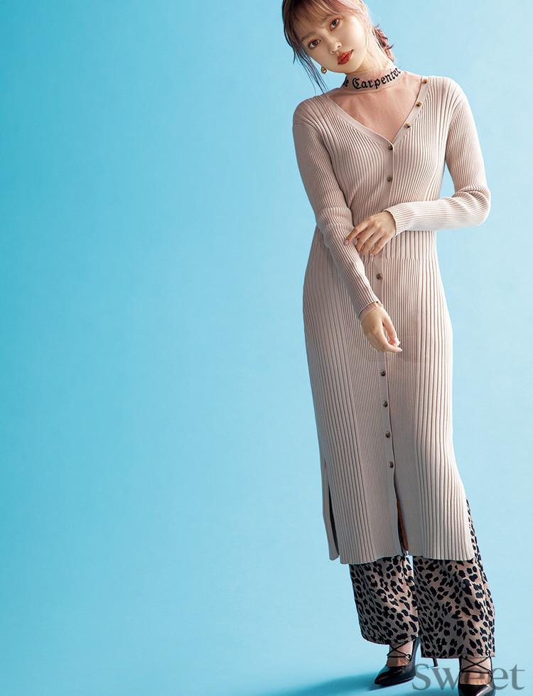 中村里砂らがニットドレスで私服魅せ♡ 色っぽコーデの参考に♪