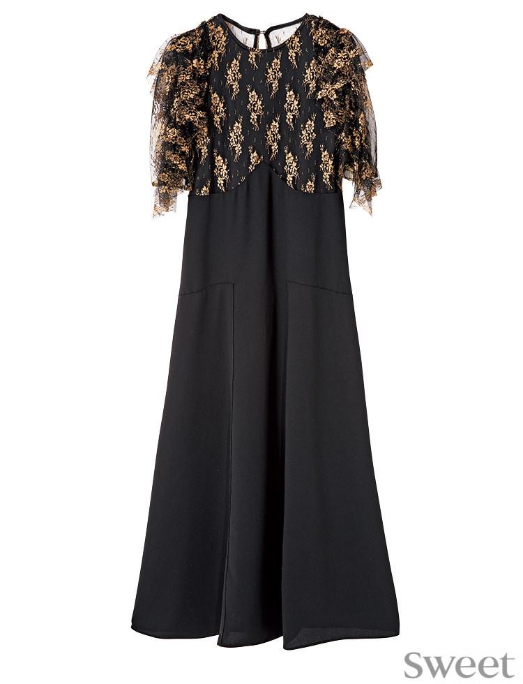 最強に女っぽい黒ドレスはコレ! 良デザインでロング丈でもスタイルアップ♡