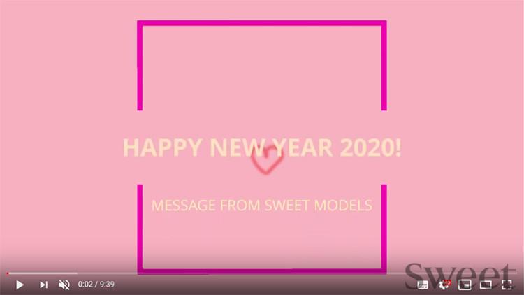New Year Messages from Sweet Models/スウィートモデルズからの2020年ニューイヤーメッセージ