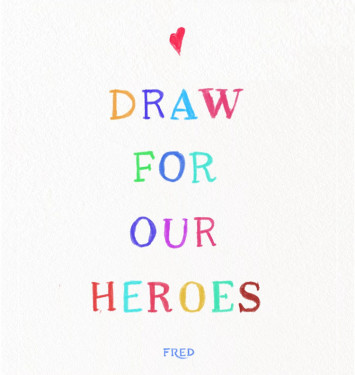フレッドが公式インスタグラムで「Draw For Our Heroes」をスタート!