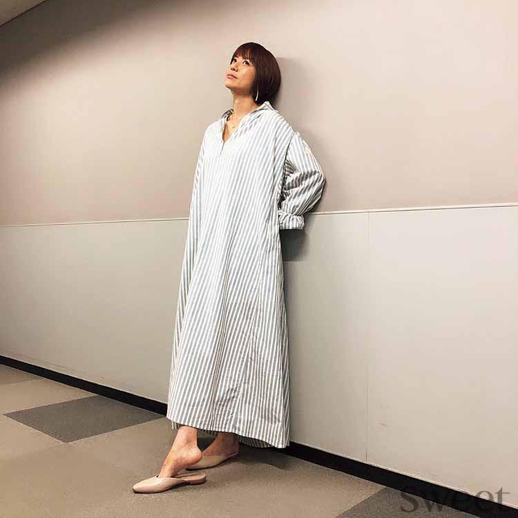 hitomi 第4子妊娠中も超おしゃれ! ラク&大人め妊婦ファッションを研究中♡