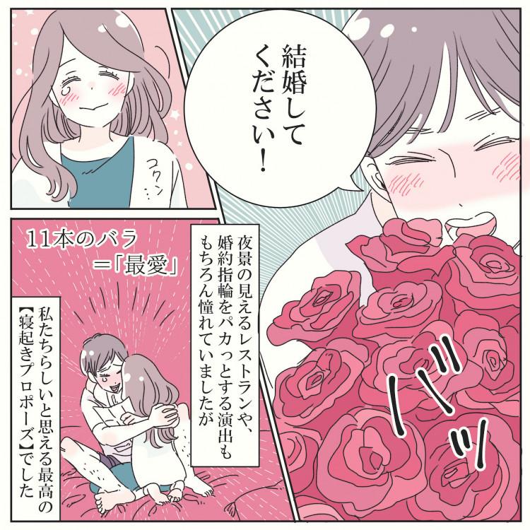 漫画コラム*日常に訪れたサプライズプロポーズ♡