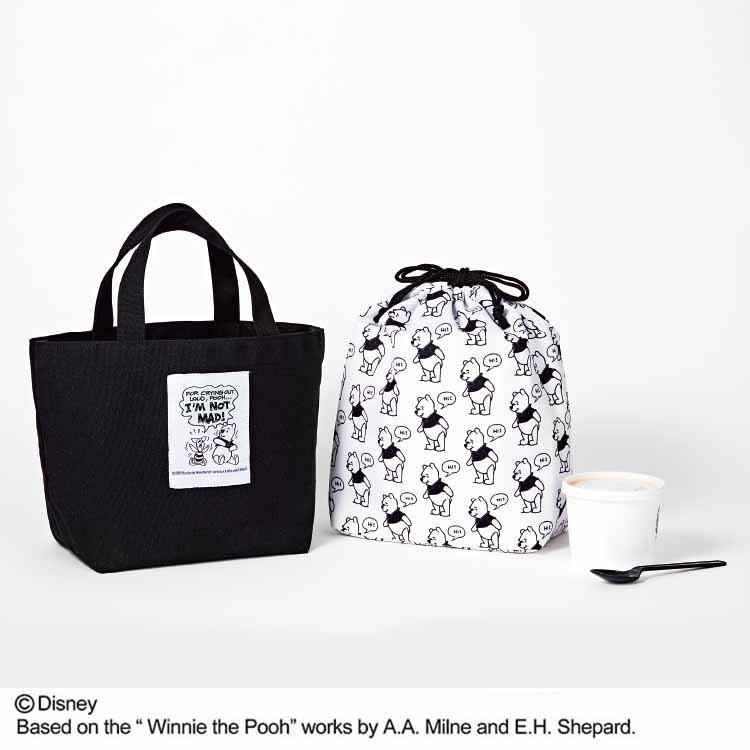 [付録]プーさんデザインのバッグがsweet誌上 初登場! レジカゴお買い物バッグ&ランチトートセット|12月発売号