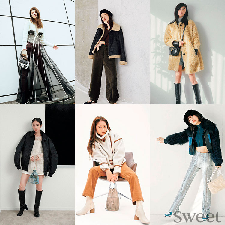 真冬の私服コーデをチェック♡ スウィートモデル6人は何着てる?