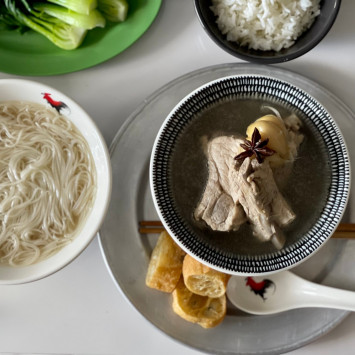 アジアンご飯レシピ(1) からだにきくスパイスたっぷり「バクテー」from シンガポール