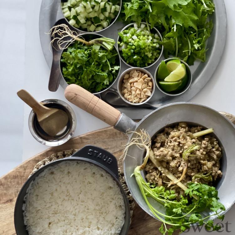 アジアンご飯レシピ(2) 野菜と薬味たっぷり「ドライグリーンカレー」from タイ