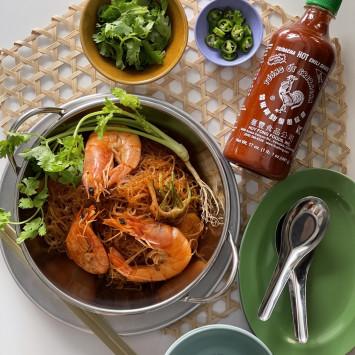 アジアンご飯レシピ(3) 海老と春雨の蒸し焼き「クンオップウンセン」from タイ